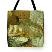 Woman At Her Toilet Tote Bag