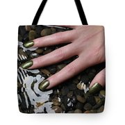 Woman Hand In Water Tote Bag