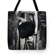 Woman In Alley Tote Bag