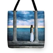 Young Woman As A Classical Woman Of Ancient Egypt Rome Or Greece Tote Bag