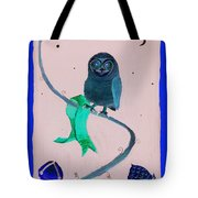 2008 Owl Negative Tote Bag by Lilibeth Andre