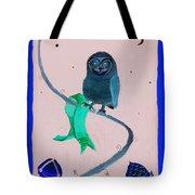2008 Owl Negative Tote Bag