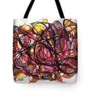2010 Abstract Drawing 24 Tote Bag