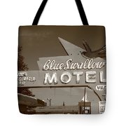 Route 66 - Blue Swallow Motel Tote Bag