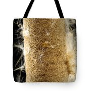A Cattail Typha Latifolia Disperses Tote Bag