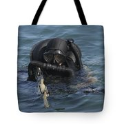 A Navy Seal Combat Swimmer Tote Bag by Michael Wood