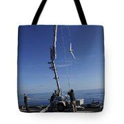 A Scan Eagle Unmanned Aerial Vehicle Tote Bag