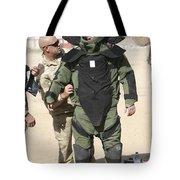 A U.s. Marine Gets Suited Tote Bag