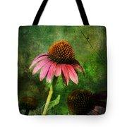 3 Amigos Echinacea Coneflower Grunge Art Tote Bag