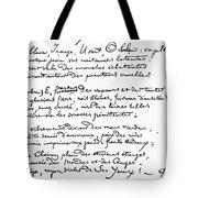 Arthur Rimbaud (1854-1891) Tote Bag