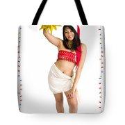 Asian Woman With Santa Hat  Tote Bag
