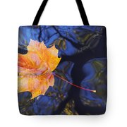 Autumn Leaf On The Water Tote Bag