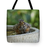 Bird Bath Fun Time Tote Bag