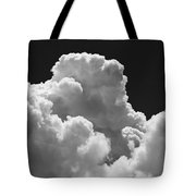 Black And White Sky With Building Storm Clouds Fine Art Print Tote Bag