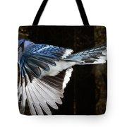 Blue Jay In Flight Tote Bag
