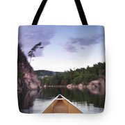 Canoeing In Ontario Provincial Park Tote Bag
