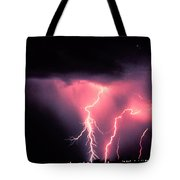 Cloud-to-ground Lightning Tote Bag