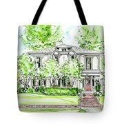 Custom House Rendering Tote Bag