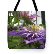 Double Clematis Named Crystal Fountain Tote Bag