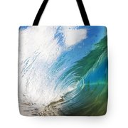 Glassy Breaking Wave Tote Bag