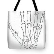 Hand And Wrist Bones Tote Bag