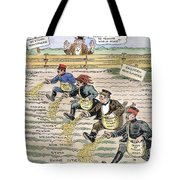 League Of Nations Cartoon Tote Bag