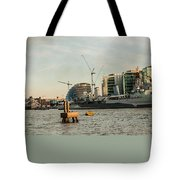 London Skyline Sunset Tote Bag
