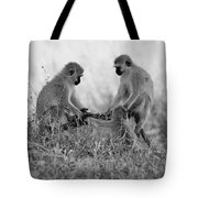 3 Monkeys Hey Its Not A Wig Tote Bag