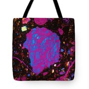 Moon Rock, Transmitted Light Micrograph Tote Bag by Michael W. Davidson - FSU
