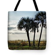 3 Palms On The Beach Tote Bag