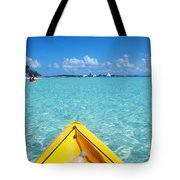 Relaxing At Coco Cay In The Bahamas Tote Bag