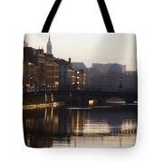 River Liffey, Dublin, Co Dublin, Ireland Tote Bag