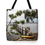 River Walk On The Indian River Lagoon Tote Bag