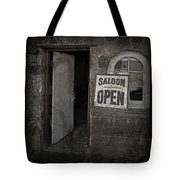 Saloon Open Poster Tote Bag