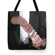 Shuffling Cards Tote Bag