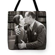Silent Film Still: Kissing Tote Bag