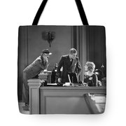 Silent Film Still: Offices Tote Bag