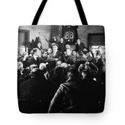 Silent Still: Group Of Men Tote Bag