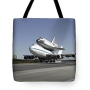 Space Shuttle Endeavour Mounted Tote Bag
