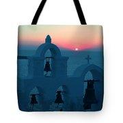 Sunset Santorini Greece Tote Bag