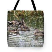 Teal Ducks Tote Bag