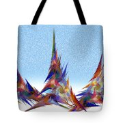 3 Teepees Snow Storm Tote Bag