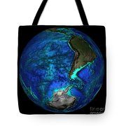 Topographical Map Of Coordinates 45 S Tote Bag by Science Source