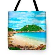 Tropical Lagoon Tote Bag