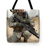 U.s. Army Sergeant Provides Security Tote Bag