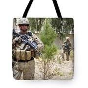 U.s. Army Soldier Stands Guard Tote Bag