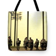 U.s. Army Soldiers Prepare To Board Tote Bag