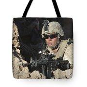 U.s. Marine Provides Security Tote Bag