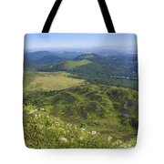View From Puy De Dome Onto The Volcanic Landscape Of The Chaine Des Puys. Auvergne. France Tote Bag