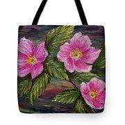 3 Wild Roses Tote Bag